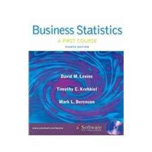 Business Statistics: First Course