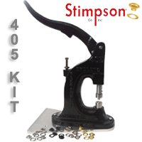 Stimpson 405 Machine & #2 Self-Piercing Grommet & Washer Starter Kit by Stimpson Co., Inc.