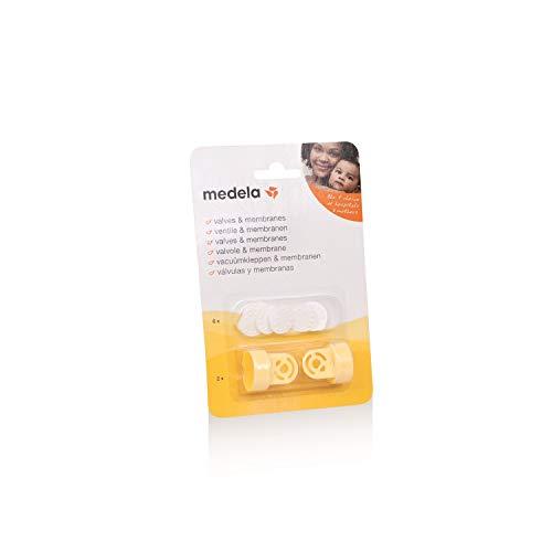 Válvulas e Membranas (com 2 Válvulas e 6 Membranas) para extrator de leite, Medela