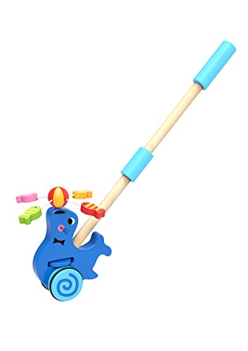 - TOYSTER'S Push Along Toddler Walking Seal | Wood Stand Up Push and Pull Animal Walker Toys | Gifts for Boys and Girls 1 Year Old and Up | PU910