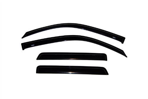 Auto Ventshade 94733 Original Ventvisor Side Window Deflector Dark Smoke, 4-Piece Set for 2002-2009 Chevrolet Trailblazer