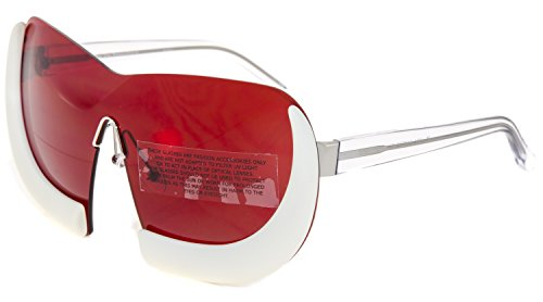 LINDA FARROW Walter Van Beirendonck 6 Red Crystal Horn Fashion Sunglasses - Womens Vans Sunglasses