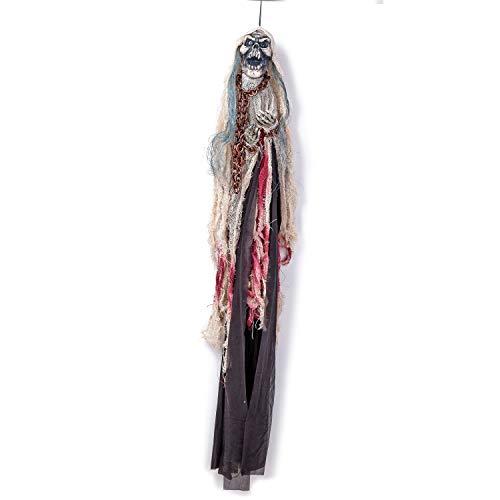 - Halloween Hanging Decoration Bloody Skeleton Ghost 39.3 Inch Cross Bones Skeleton Crypt Ghost Home Kids Parties Fun Decor