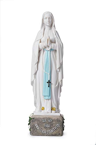 (Joystarcraft Our Lady of Lourdes Catholic Blessed Virgin Mary Resin Statue Indoor Decoration Resin)