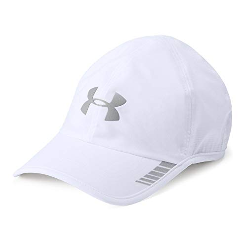 e9d2246ebb Under Armour Men's Launch ArmourVent Cap, White (100)/Silver, One Size