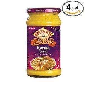 Pataks Korma Curry Sauce 15Oz. (Pack of 4) by PATAKS