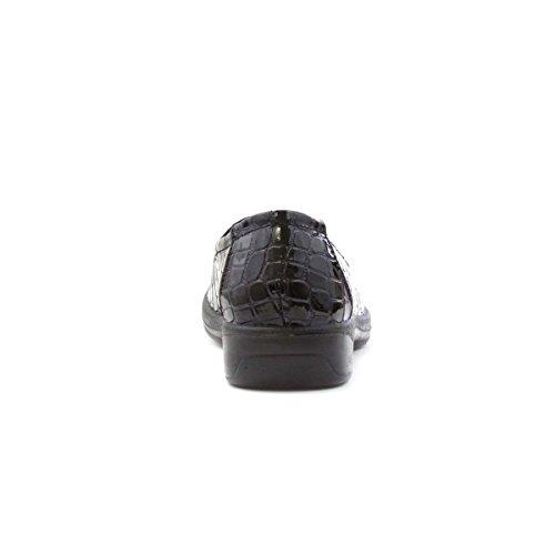 Lunar Black Schwarz Patent Croc Loafer Schuh Womens Tx50Twq1