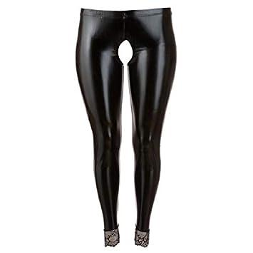 5232a87b279eef Amazon.com: Cottelli Collection Crotchless Leggings, Black, XXXX ...