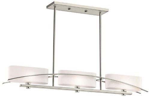 Kichler 42017NI Suspension Linear Chandelier 3-Light, Brushed Nickel