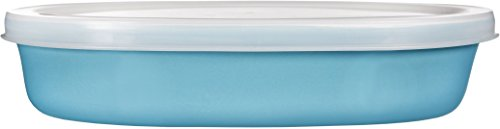 Home Essentials & Beyond Home Essentials Storage Essentials 12 oz Oval Baker with Lid, Aqua