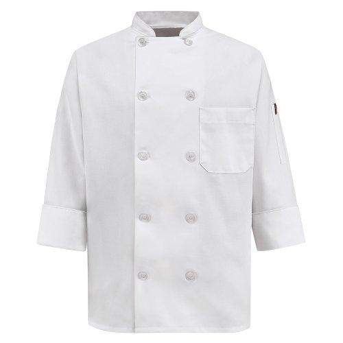 (Chef Designs Women's Chef Coat, White, Small)