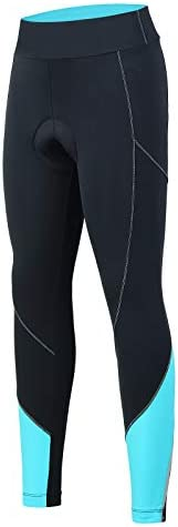 BEROY Women 3D Padded Cycling Pants with Adjust Drawstring,Ladies Compression Tights Bike Pants