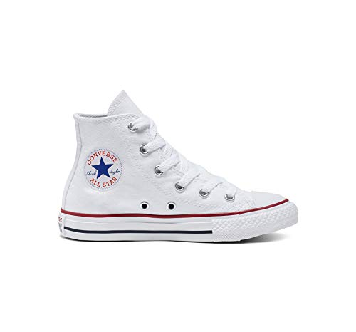 - Converse Chuck Taylor All Star Canvas High Top Sneaker, Optical White, 3 M US Little Kid