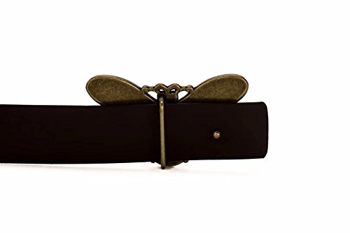 Beatfull Ladies Genuine Leather Bee Buckle Belt , Fashion Designer Belt for Women (brown, 115cm)