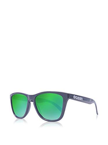 brillo Sea Sunglasses Negro Sol de revo Negro única Color Amarillo Ocean Unisex Gafas Verde Talla CTqfwR