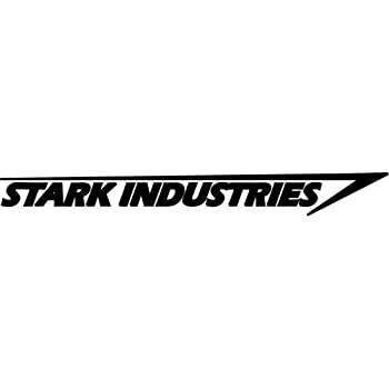 Stark industries vinyl decal sticker bumper car truck window 6 wide matte black color