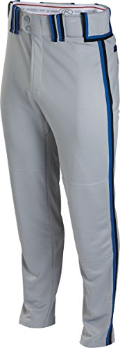 Rawlingsスポーツ用品Boys Youth semi-relaxed Pant with Braid B00J12DE8S Large|Grey/Black/Royal Grey/Black/Royal Large