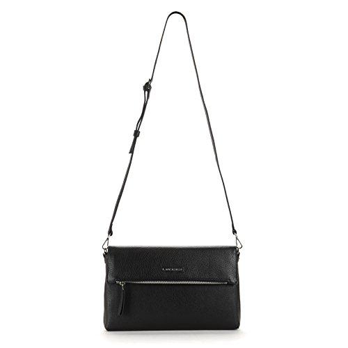 Lancaster Camille Grain Leather Handbag, Black - - Outlet Lancaster