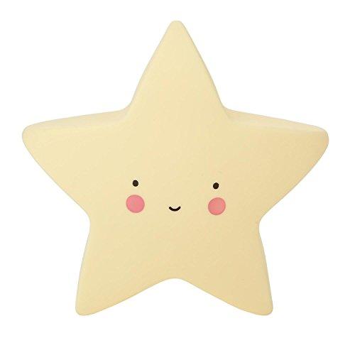 Lovely silicona Nursery lámpara–AOLVO Portable lindo Luna Estrella sol cara LED luz de noche para bebé, recámara, cuarto de niños adultos Regalo lindo, estrella, 15.5x9x13cm