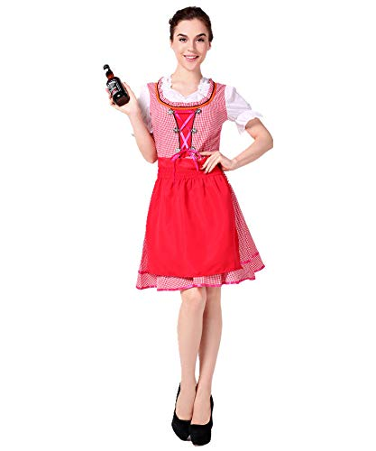 Simmia Halloween Costumes German Beer Suit Bavarian National Traditional Costume Oktoberfest Restaurant Work Clothes, Style 3, L