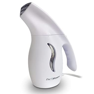 PurSteam 850 Watt Fabric Steamer, Commercial Grade, Fast-Heat Aluminum Heating Element With Travel Pouch, For Home & Travel