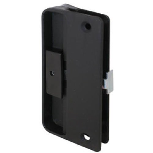 Slide-Co 121087 Mortise Type Screen Door Latch and Pull, Black Plastic