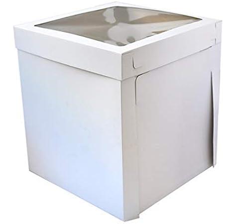 Caja de cartón para tartas de Sugar and Cakes, extra alta, 40,5 x 40,5 x 50,8 cm, caja de almacenamiento estable XL: Amazon.es: Hogar