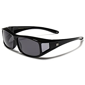 Barricade Polarized Rectangular Fit Over Glasses Sunglasses with Side Shield