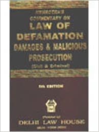 Mehrotra's Commentary on Law of Defamation, Damages & Malicious