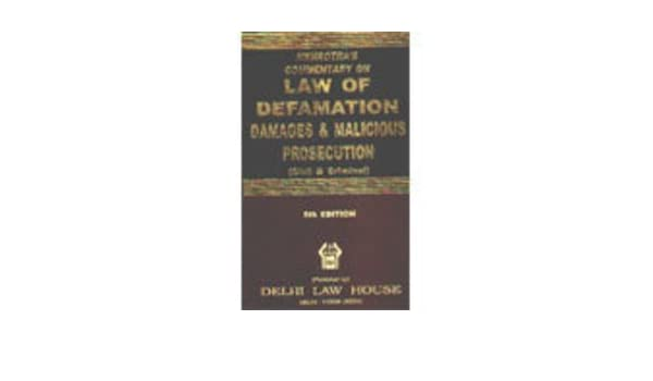 Mehrotra's commentary on law of defamation, damages