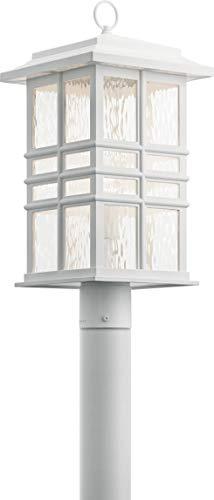 Kichler 49832WH Beacon Square Outdoor Post, 1-Light 150 Watts, White