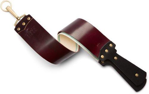 Cordovan Accessories (Ezra Arthur Maroon Shell Cordovan Straight Razor Strop)