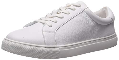 The Drop Women's Nina Lace-up Fashion Sneaker, White, 5 M US