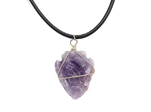 Fundamental Rockhound: Purple Amethyst Arrowhead Necklace Pendant on 17