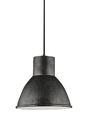 Sea Gull Lighting 6517401EN3-846 Division Street Pendant, 1-Light LED 9.5 Watts, Stardust
