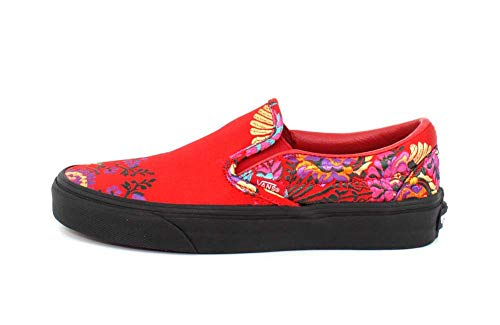 Red Festival Donna blk Vans Slip Satin festival Satin On Classic Rosso Sneaker qxq1Spv