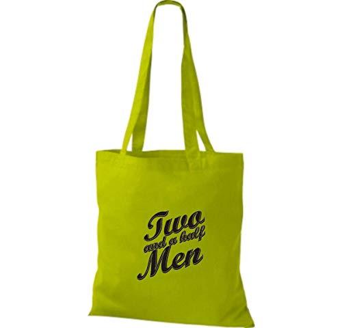 Mujer Shirtinstyle Algodón Lime Tela Green Bolso Para De wqqOfxHXT