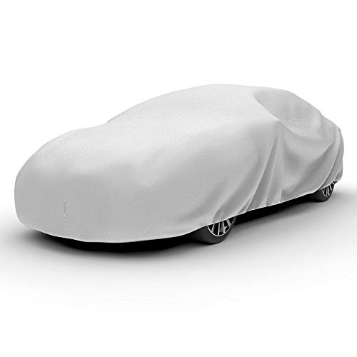 "Budge Lite Car Cover Indoor/Outdoor, Dustproof, UV Resistant, Car Cover Fits Sedans up to 228"", Gray"