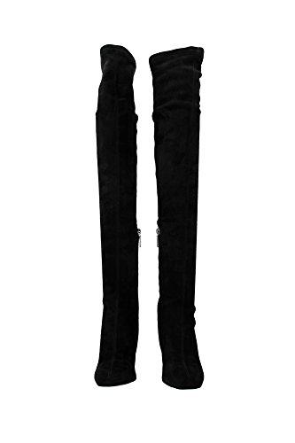 Stiefel Dolce&Gabbana Damen Wildleder Schwarz CU0303AC70080999 Schwarz 38EU