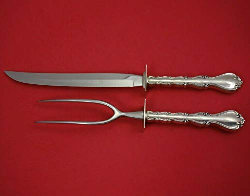 Country Manor by Towle Sterling Silver Roast Carving Set 2-Piece HHWS Vintage