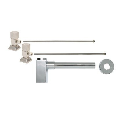 Square Handle Bathroom Supply Kit with Decorative Trap Finish: Polished Chrome