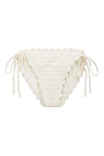 next Mujer Braguita De Bikini Lazo Lateral Ganchillo Corte Regular Trajes De Baño Bañador Crema