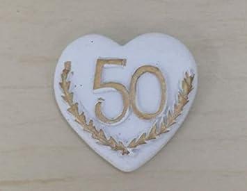 8 Pezzi Cuore Adesivo 50 Anni Di Matrimonio Nozze Oro Decorazione