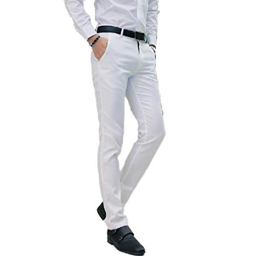 YKeen Mens Chino Modern Flat-Front Slim Fit Casual Tapered Dress Pants