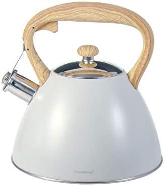 Whistling Kettle Acciaio inossidabile 3 L Stufa a induzione Elettrico Nero Gas