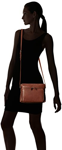 ili with York 6333 Side Toffee Shoulder Handbag Leather New Organizer qw4Ygrq