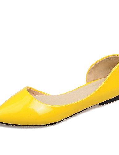 más Toe zapatos talón Flats mujeres de cn38 señaló us7 yellow PDX 5 uk5 5 disponibles colores las plano Casual eu38 xvqC0w0