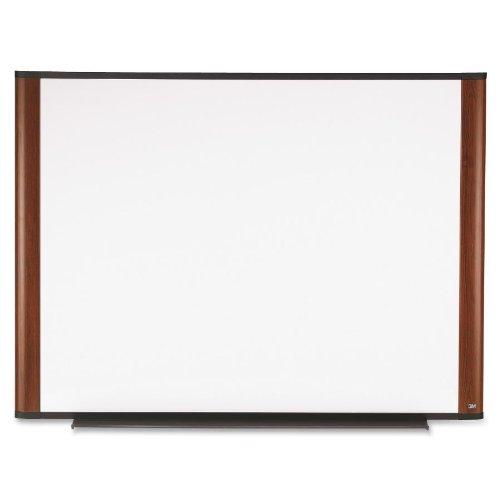 Frame Whiteboard Mahogany - 3M Melamine White Dry Erase Board, 48 x 36, Mahogany Aluminum Frame (M4836MY)