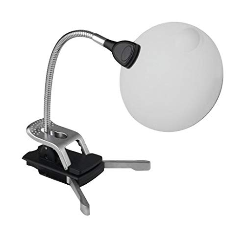 MAGNIFIER LED FLEXILENS Arm Length 220mm For Use With Craft Art & Reading Magnification 2x Magnifier