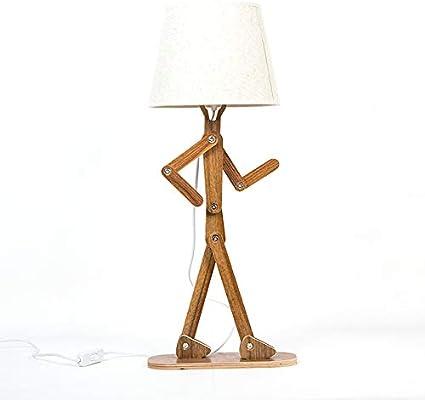 Amazon.com: Lámpara de escritorio de madera para hombre con ...